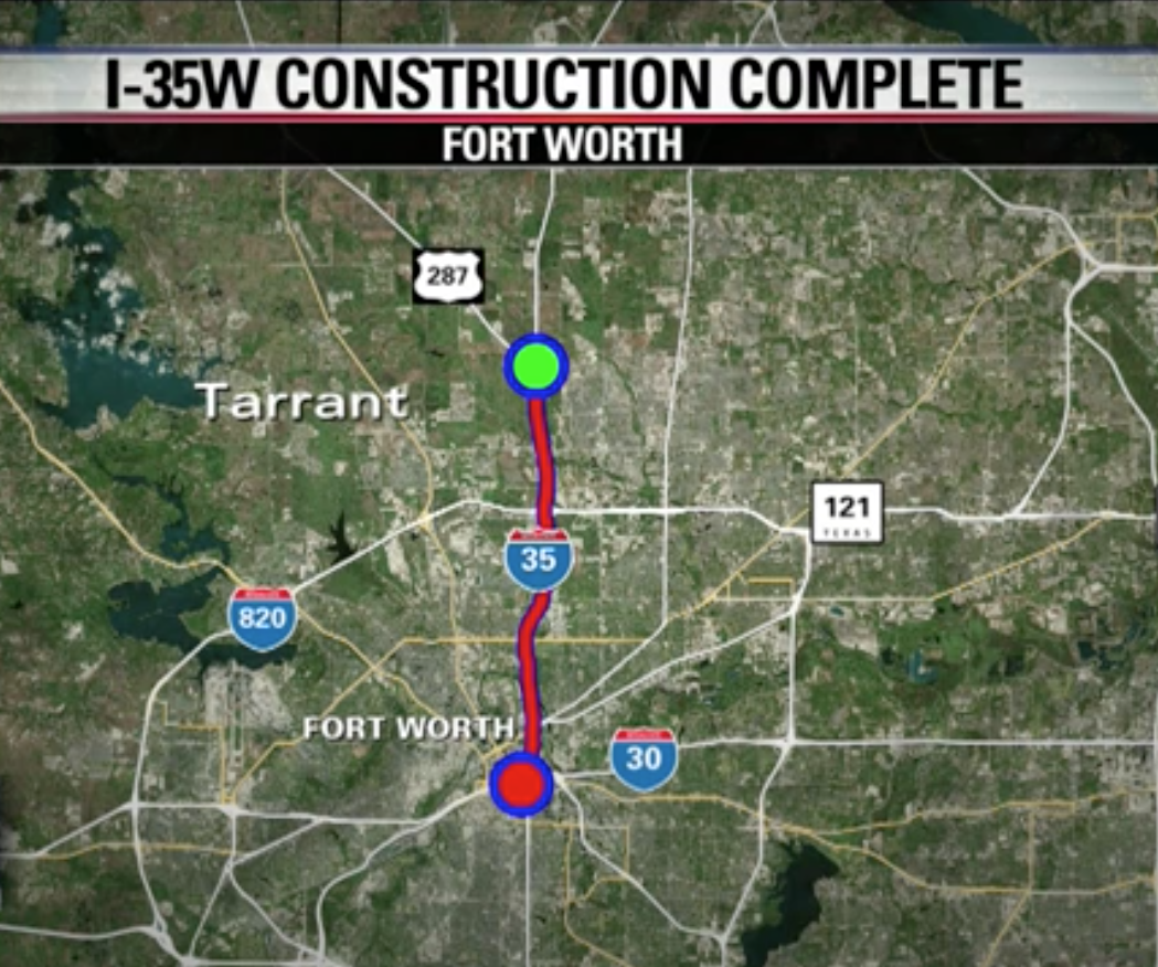 Fort Worth Road Construction Map