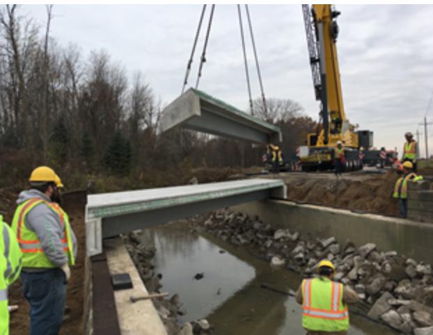 Crane Replacing a Bridge