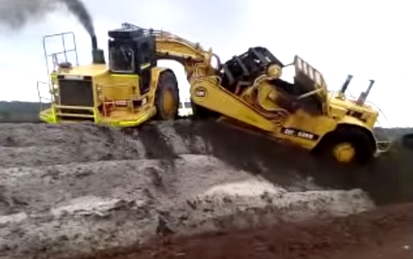 scraper stuck on the edge