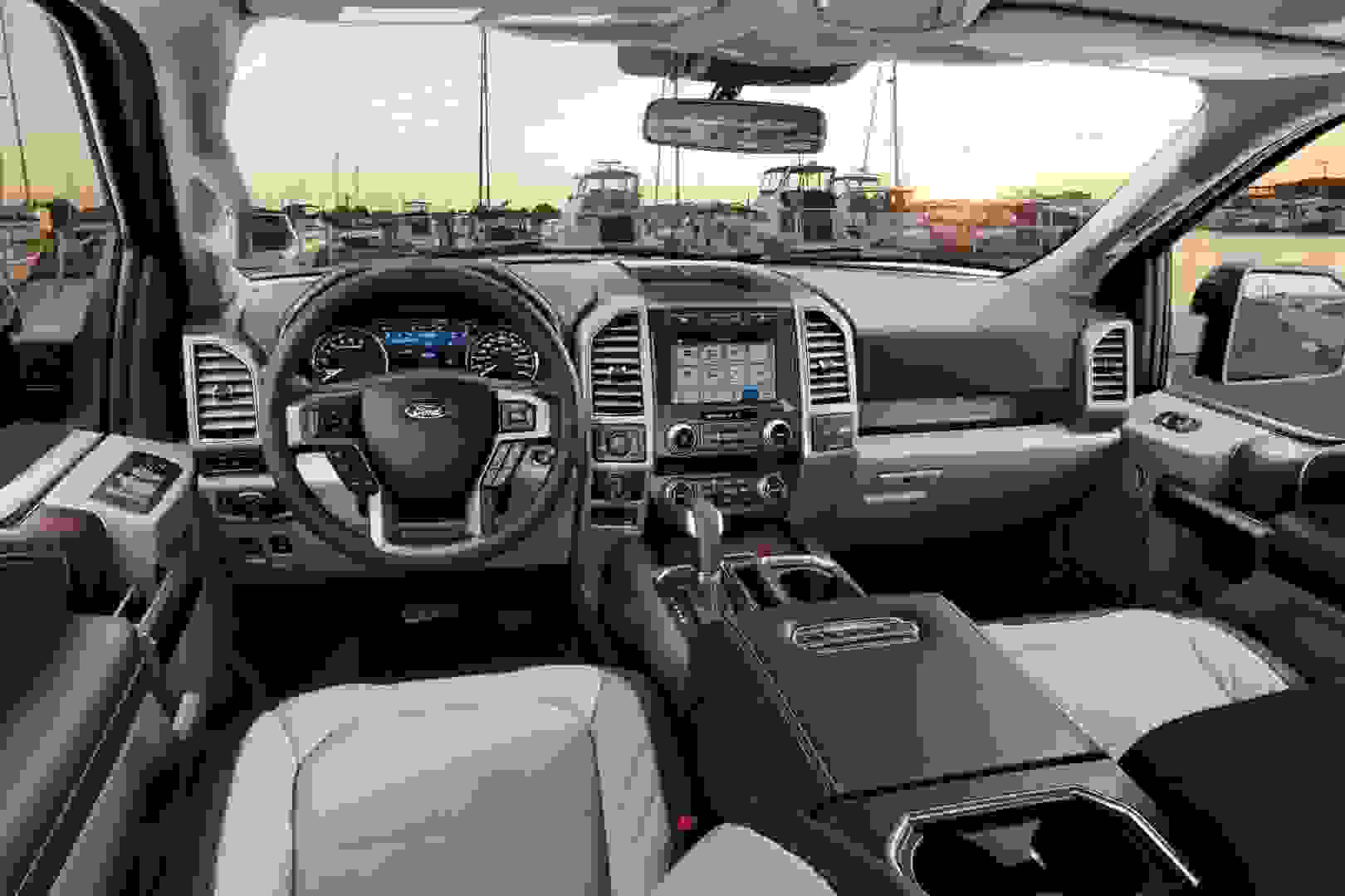 Ford f 150 limited inside front angle view
