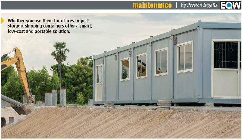 Shipping Container As Portable Office Space