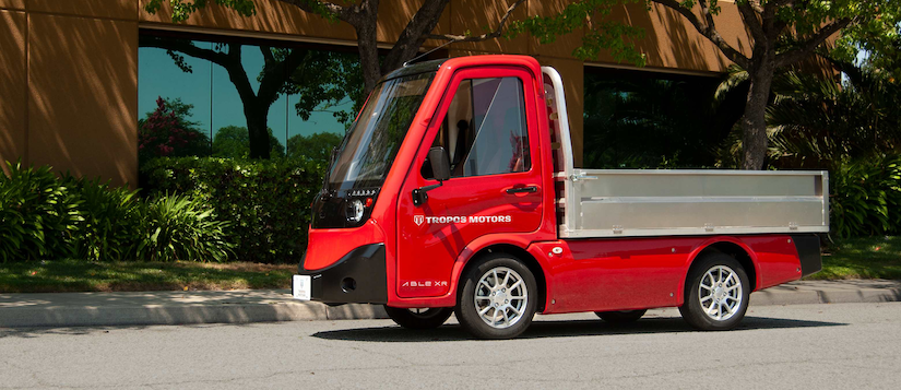 Tropos Motors all-electric compact utility vehicle
