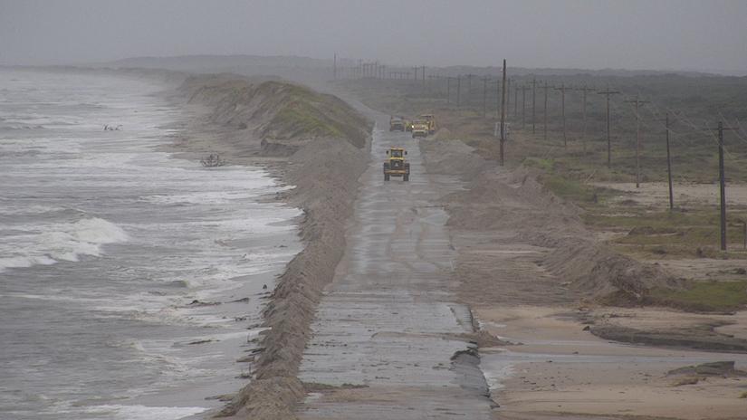 hurricane storm on the coast of north carolina