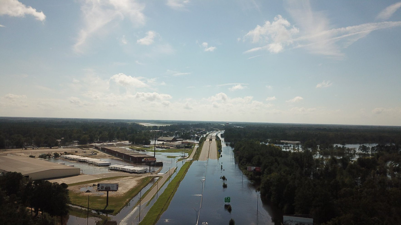 North carolina Interstate 95 flooding in 2018