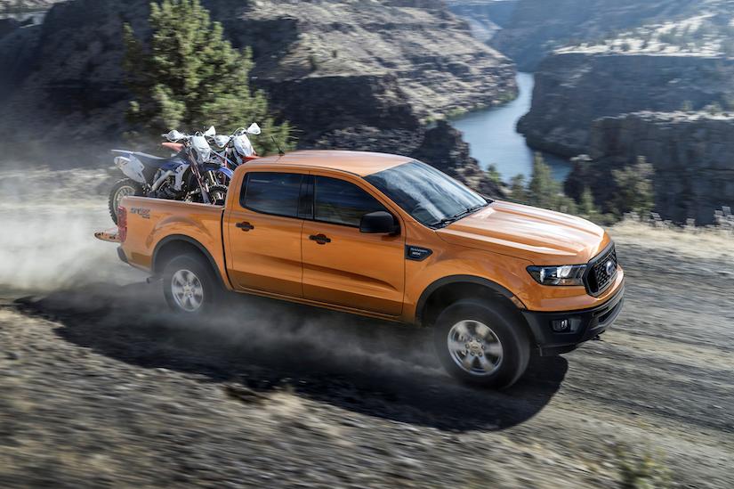 Orange 2019 Ford Ranger XL STX SuperCrew