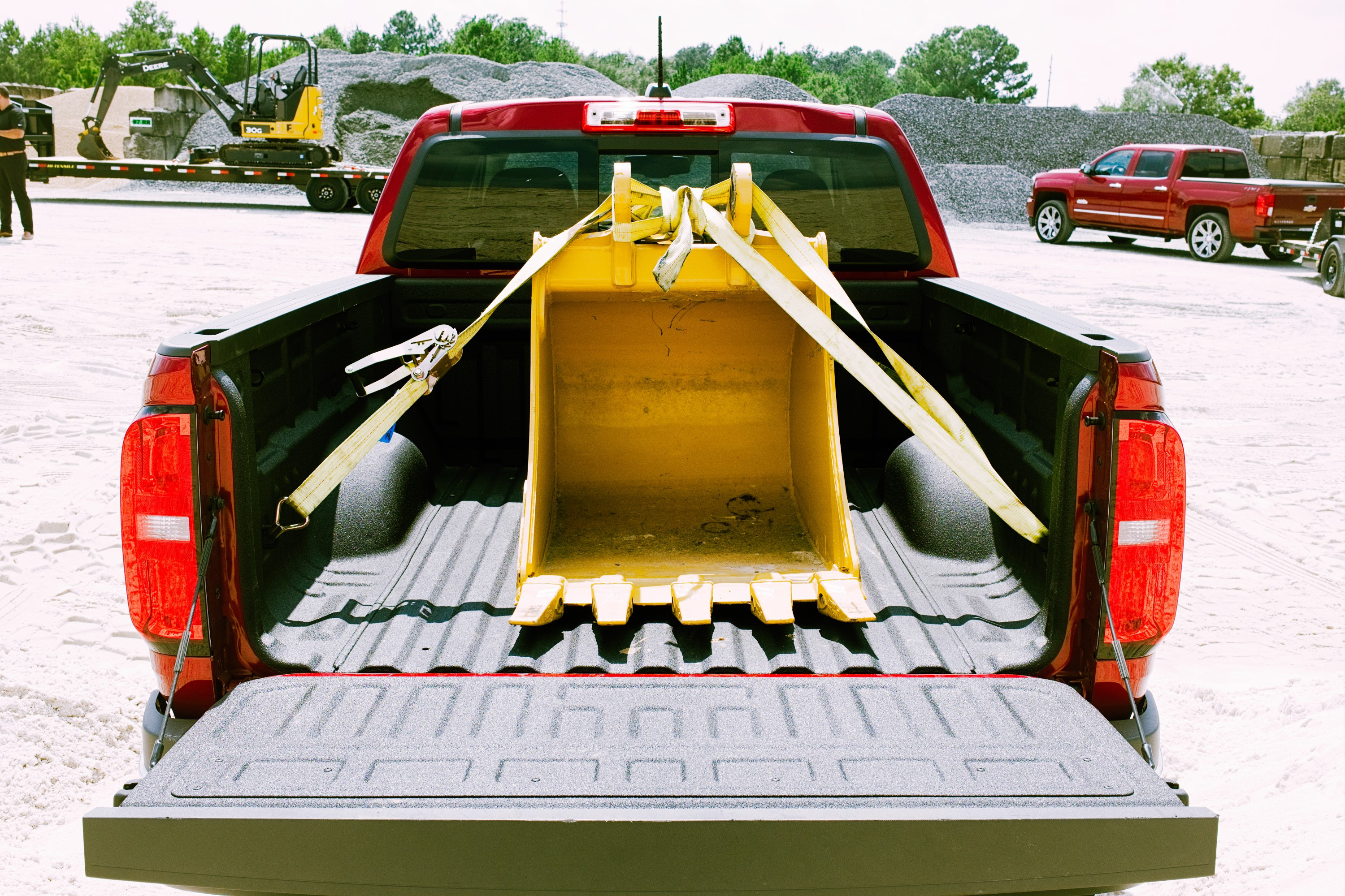 bed of chevy Colorado with attachment