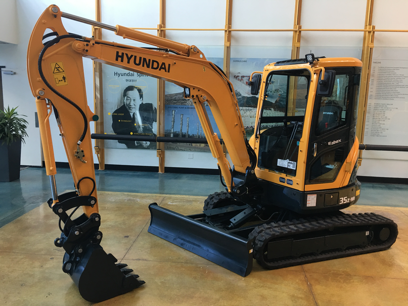 New features added to the Hyundai R35Z-9A excavator
