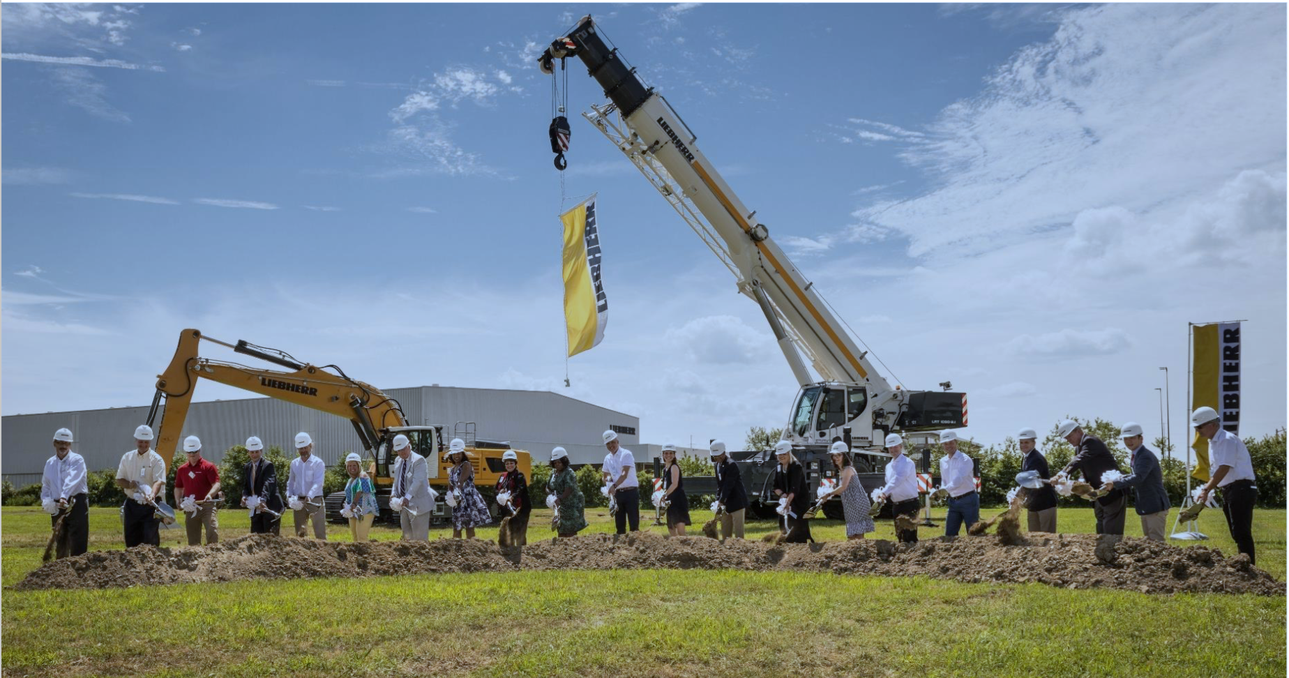 Breaking ground at Liebherr's expansion in Newport News, Virginia