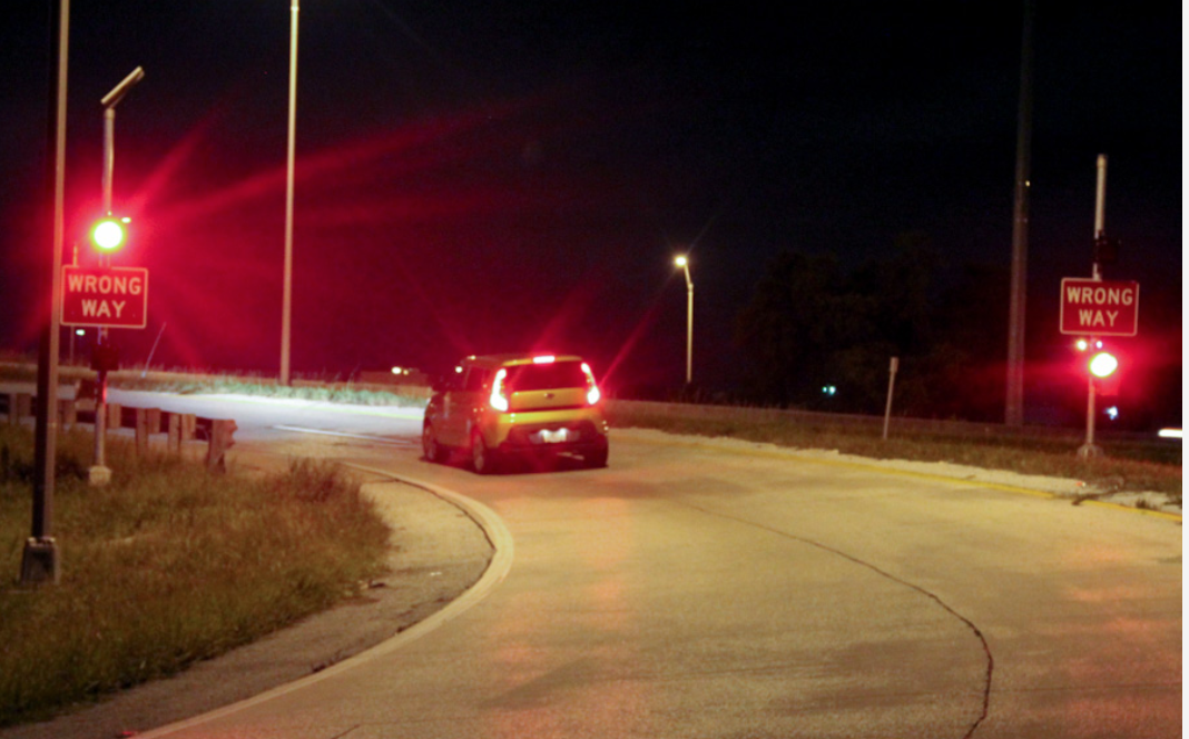 Driver Driving the Wrong Way