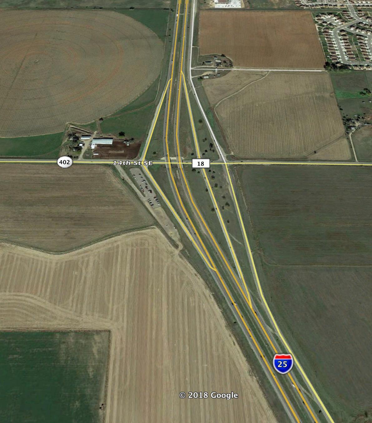 Colorado Highway 402 and I-25