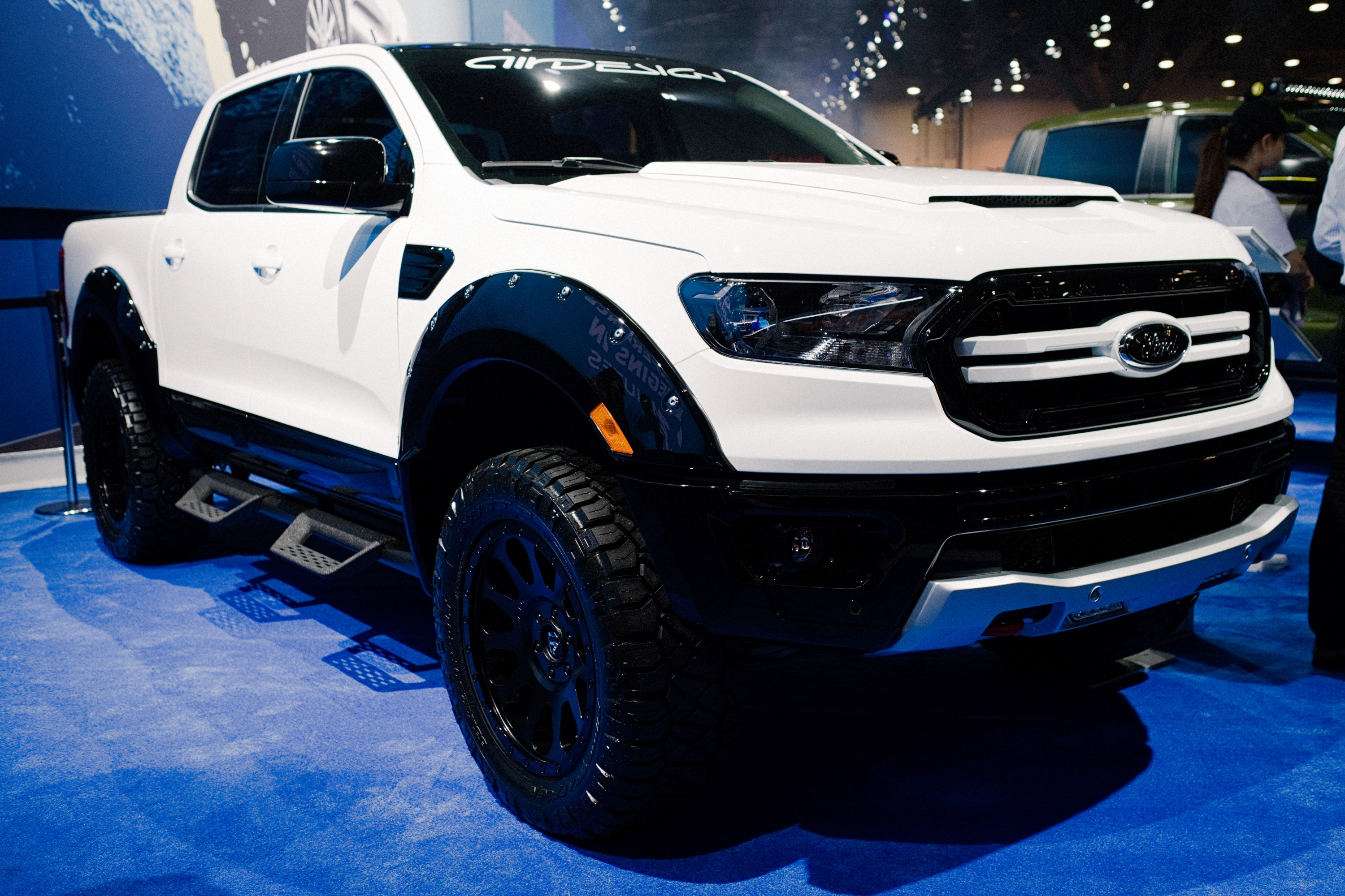 custom 2019 ford rangers on display at the 2018 sema show. Black Bedroom Furniture Sets. Home Design Ideas
