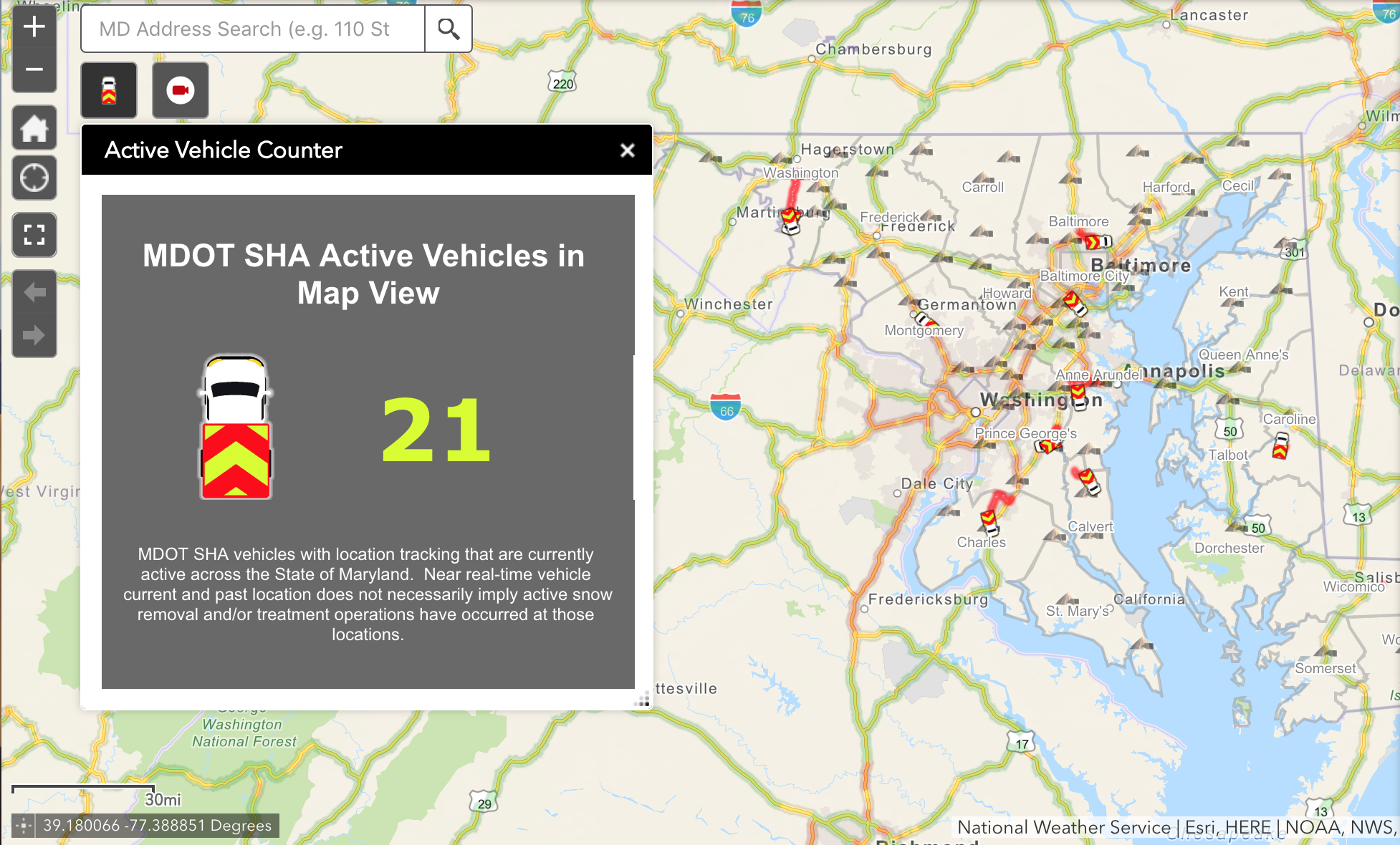 MDOT SHA debuts app for tracking snow removal equipment