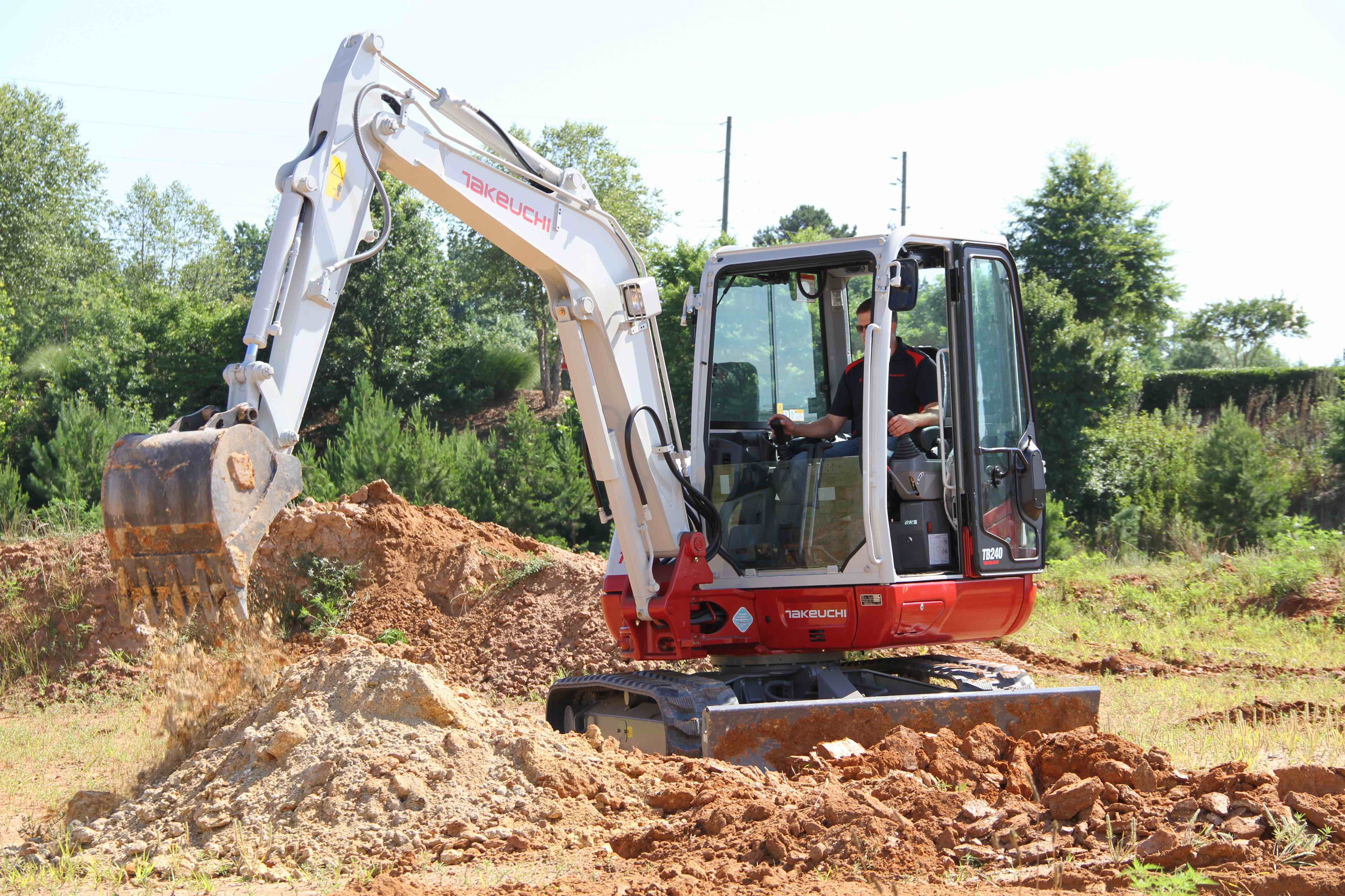 Takeuchi compact excavator