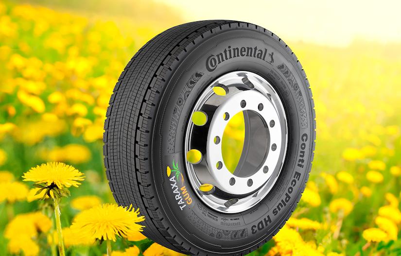 Continental's Taraxagum commercial truck tire