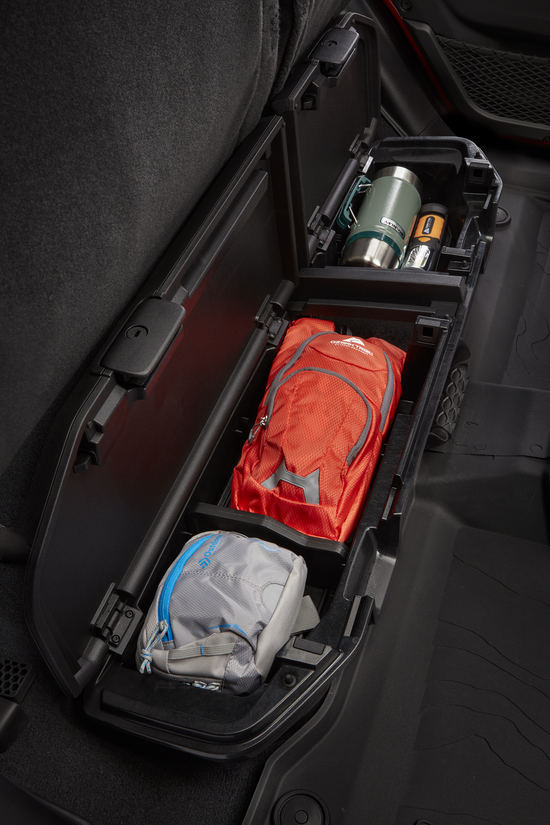 Storage compartment inside 2020 Jeep Gladiator