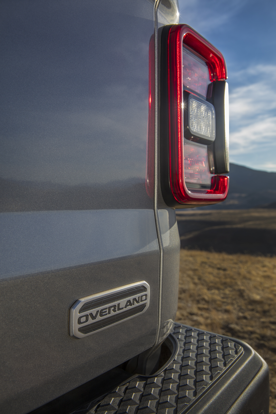 Tailgate details on the 2020 Jeep Gladiator Overland