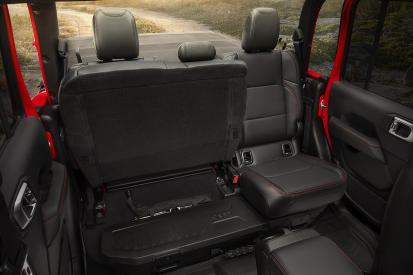 Seat arrangement in the 2020 Jeep Gladiator
