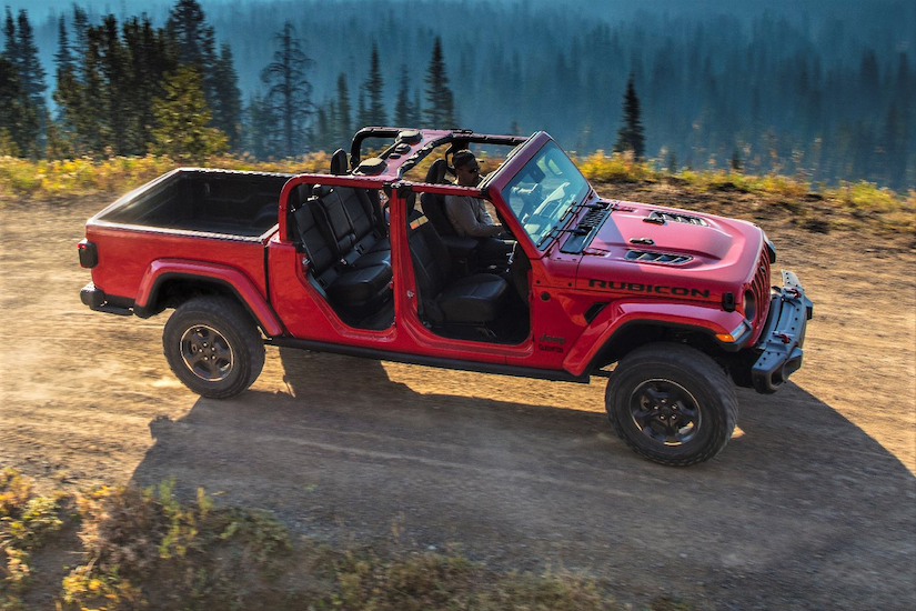 2020 Jeep Gladiator with doors and roof panels removed