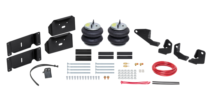 Components of the Firestone Wireless Air Command Kit for Ford F-250