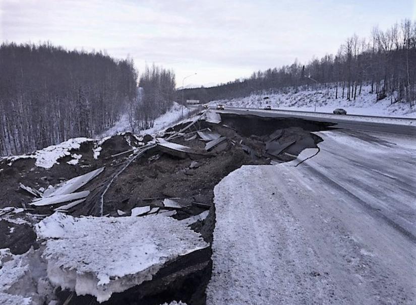 Collapsed Alaskan Road