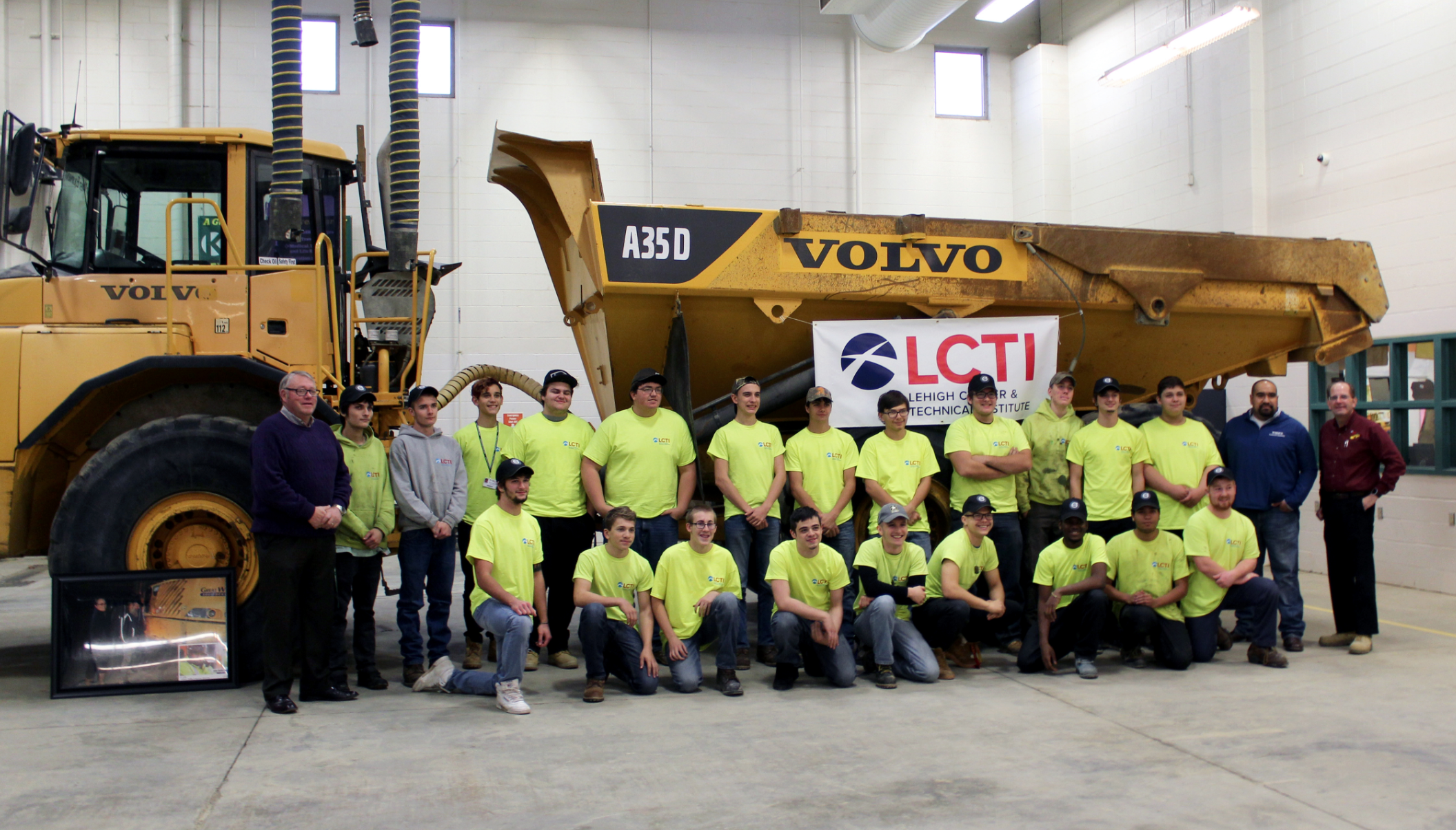 volvo articulated hauler donated  career tech institute