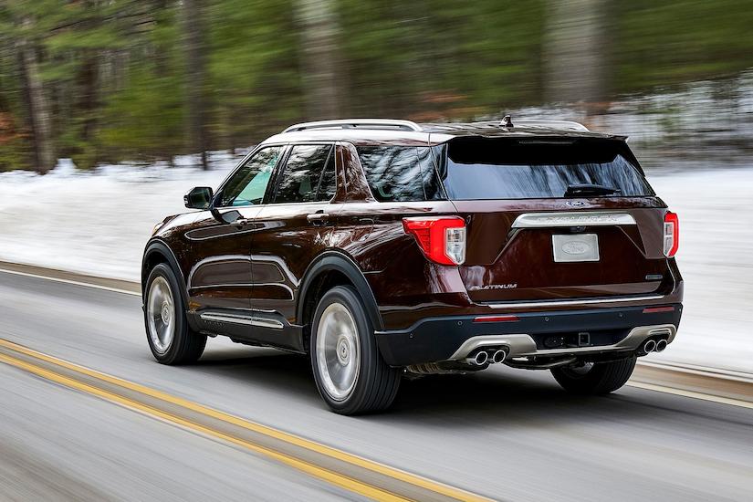 Ford Explorer Platinum on road