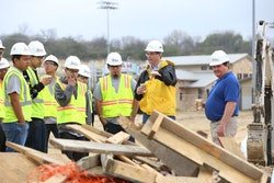 AGC students recruiting construction training high school students