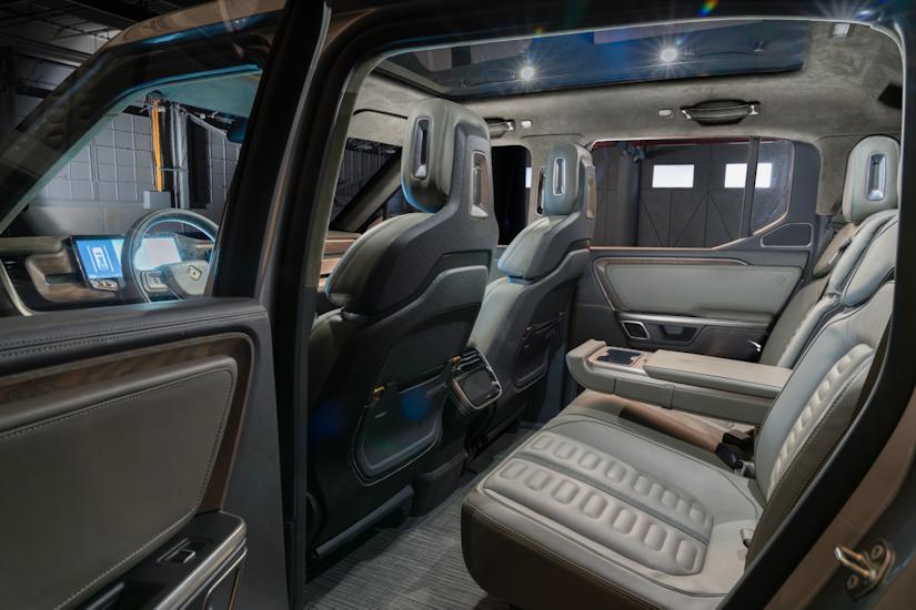 Rivian R1T™ All-Electric Truck interior
