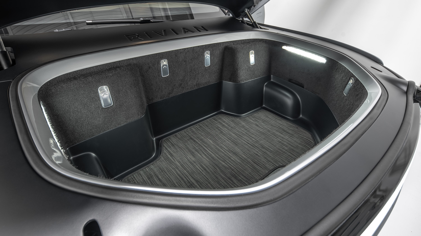 Rivian R1T™ All-Electric Truck front hood storage