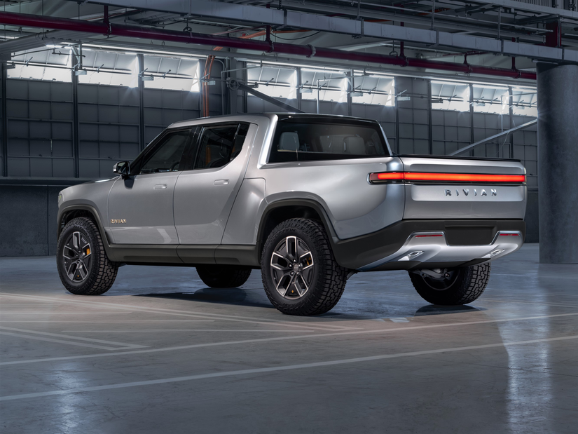 Rivian R1T™ All-Electric Truck side and tailgate