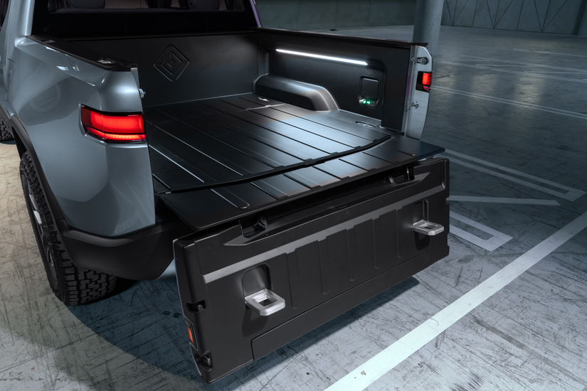 Rivian R1T™ All-Electric Truck open tailgate