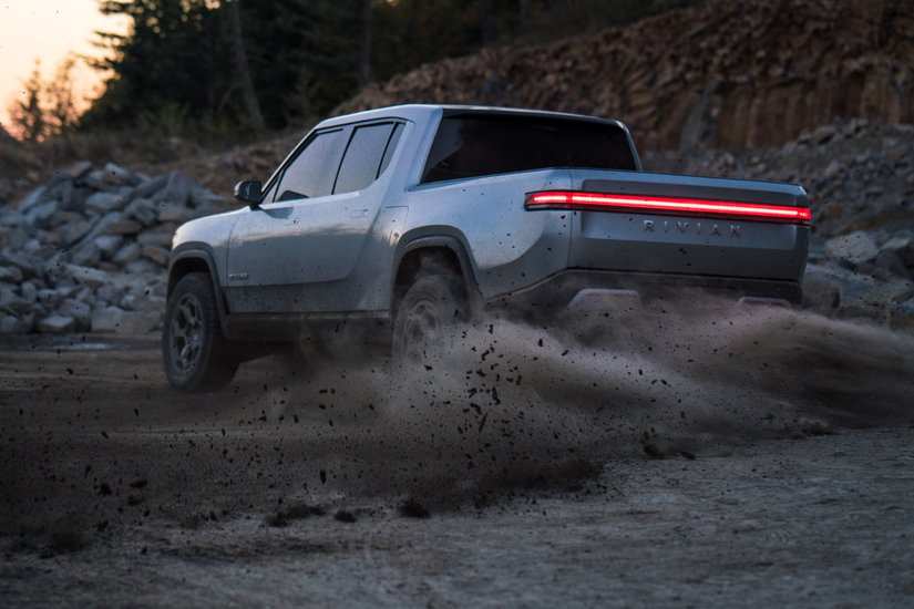 Rivian R1T™ All-Electric Truck in action