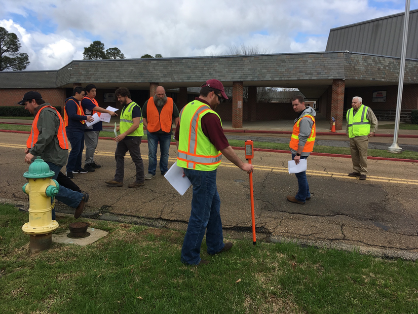 Students Participating in Trenchless Utility Training