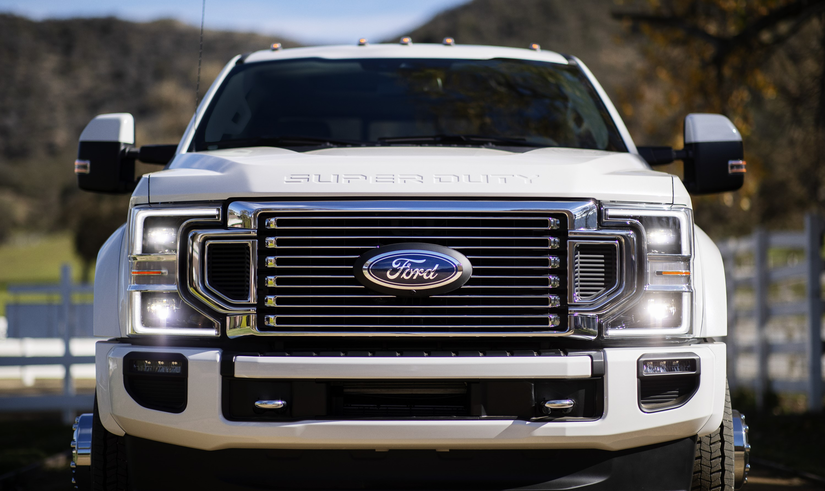 ford introduces  super duty trucks  gas  option