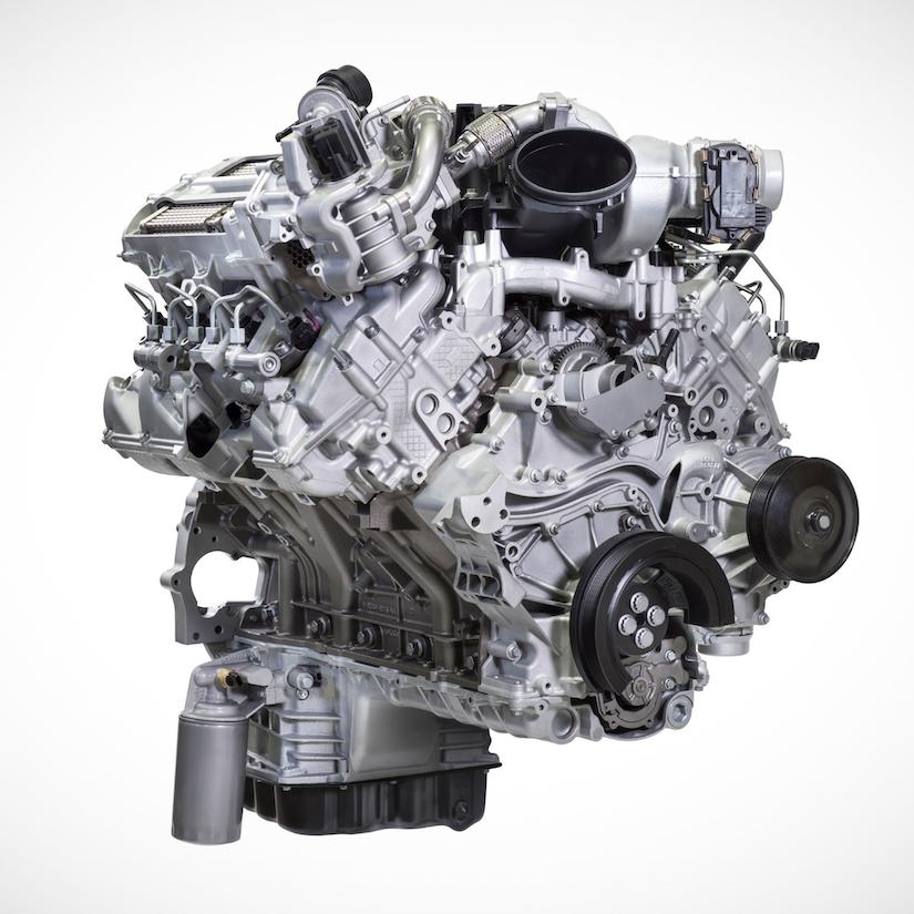 ford introduces  super duty trucks  gas  option
