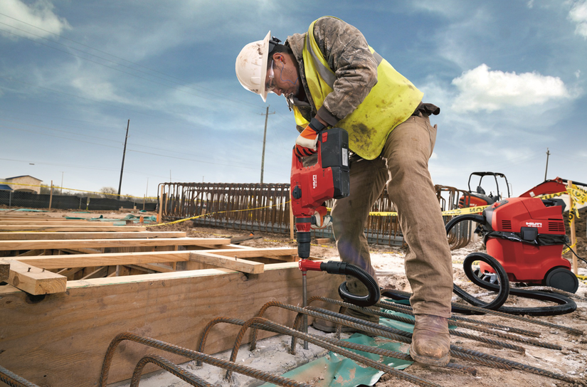 Construction Worker with Hilti Equipment