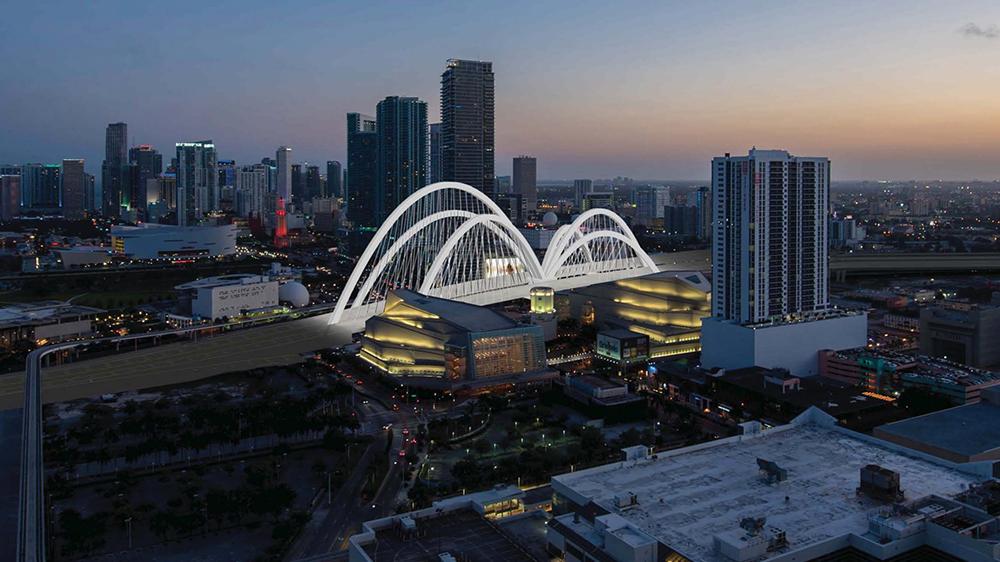 Artist rendering of a bridge in Miami