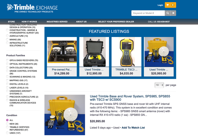 Trimble Exchange - Pre-Owned Technology Products