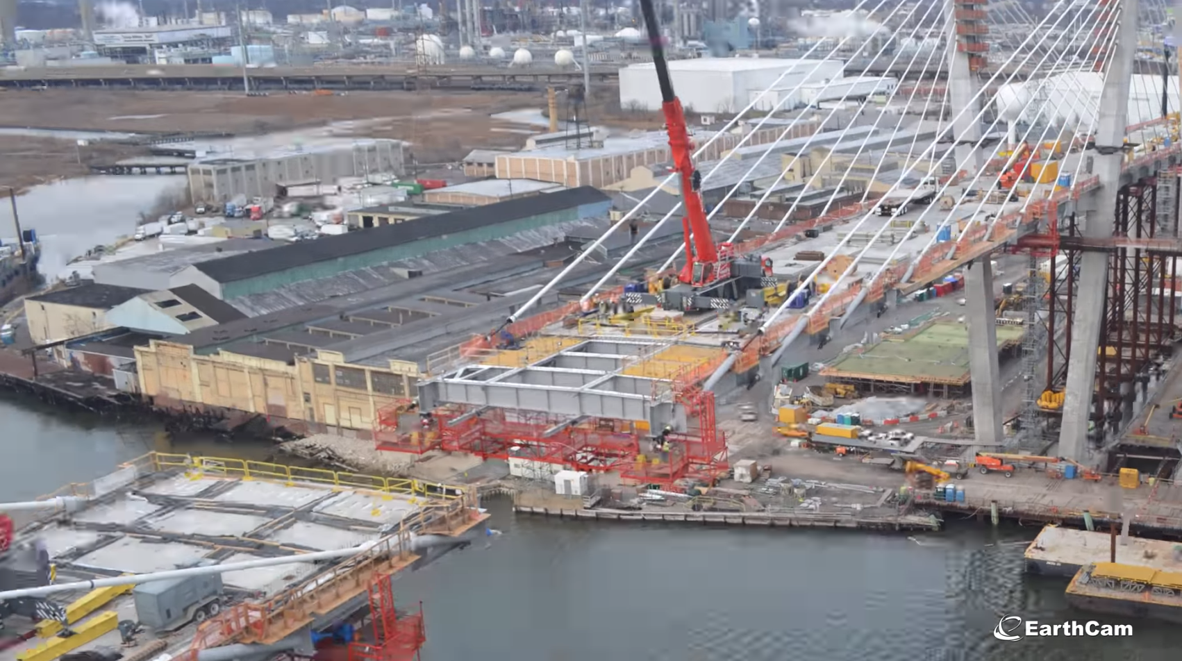 Watch 4 years of Goethals Bridge construction from EarthCam
