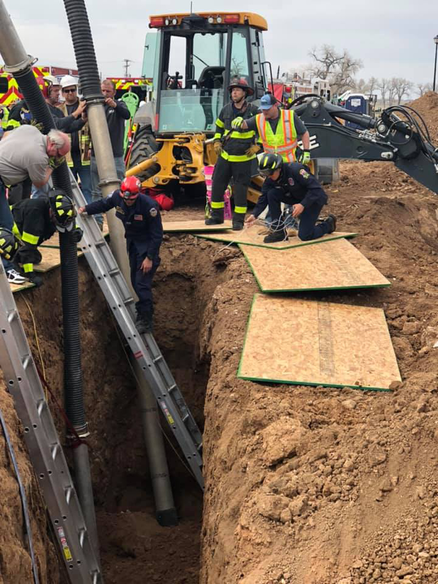 trench collapse in Colorado