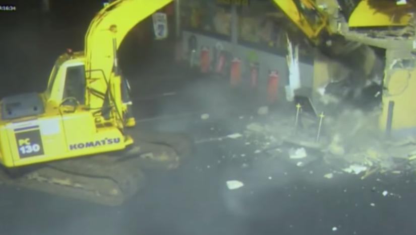 Komatsu Construction Equipment Digging Out ATM