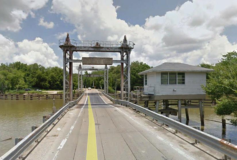 The Bayou Plaquemine Brule' Pontoon Bridge