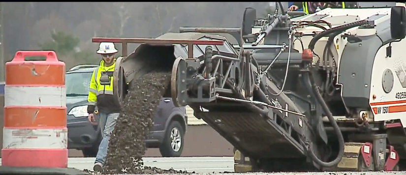 INDOT crews working on Section 6 Interstate 69 project