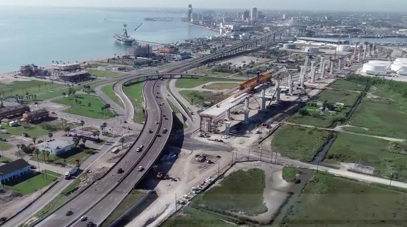 Work progresses on longest cable-stayed bridge in U.S.