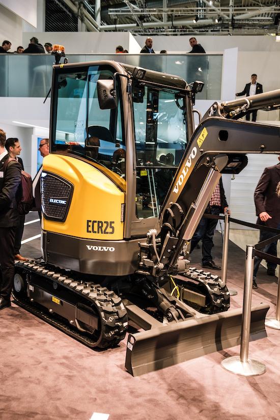 Volvo ECR25 electric excavator