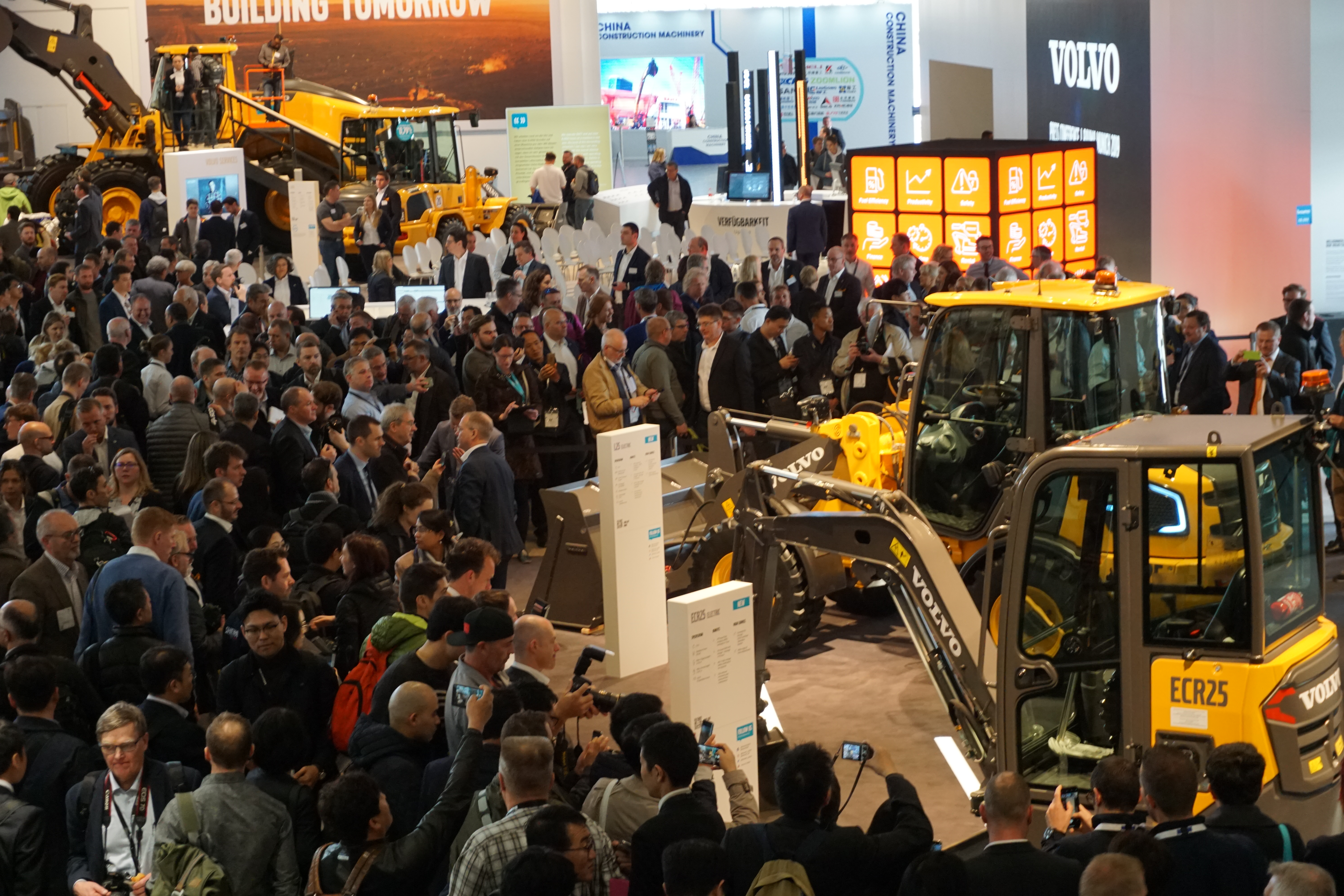 volvo booth at Bauma