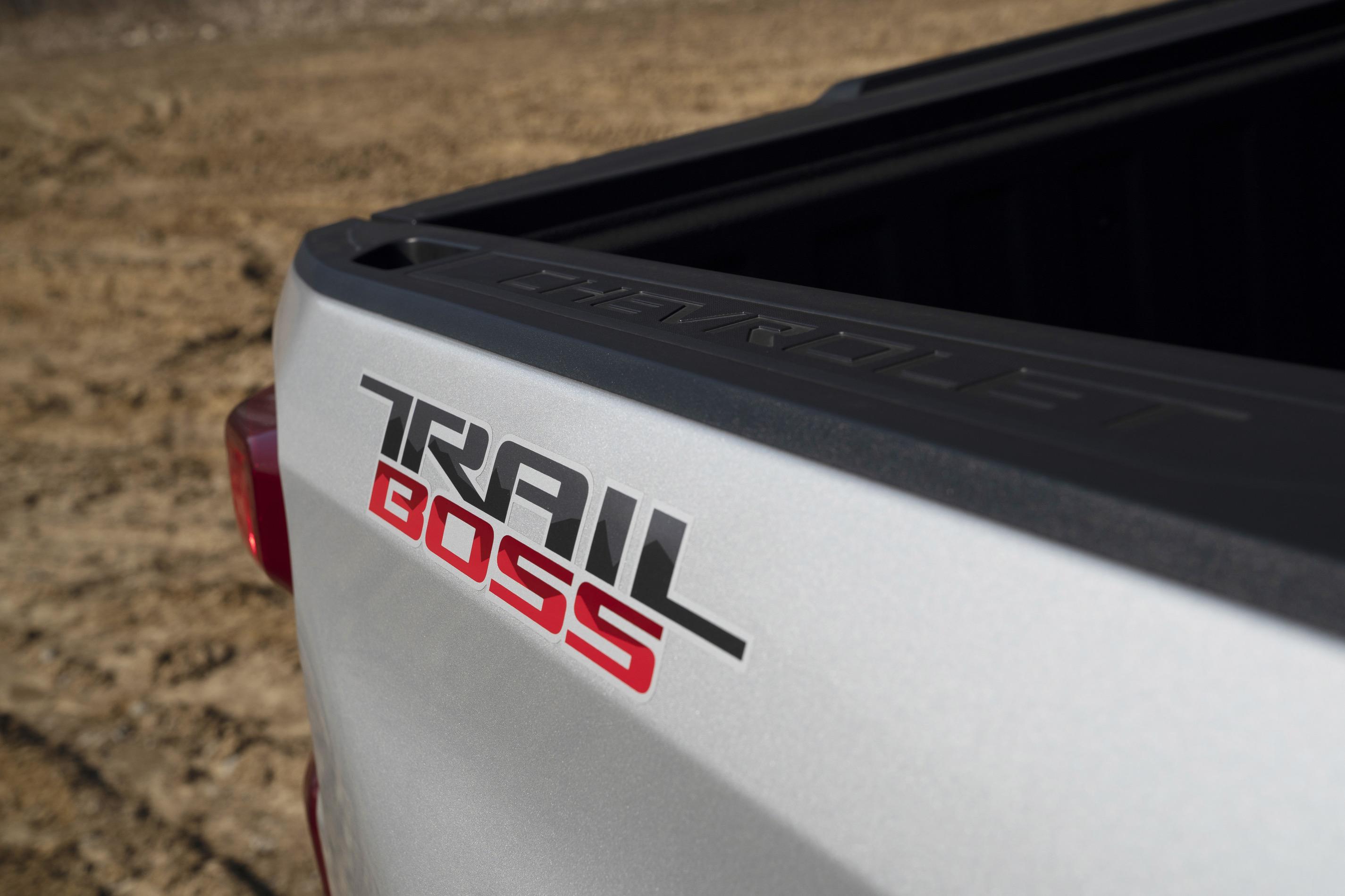 2020 Chevrolet Silverado Custom Trail Boss logo on truck