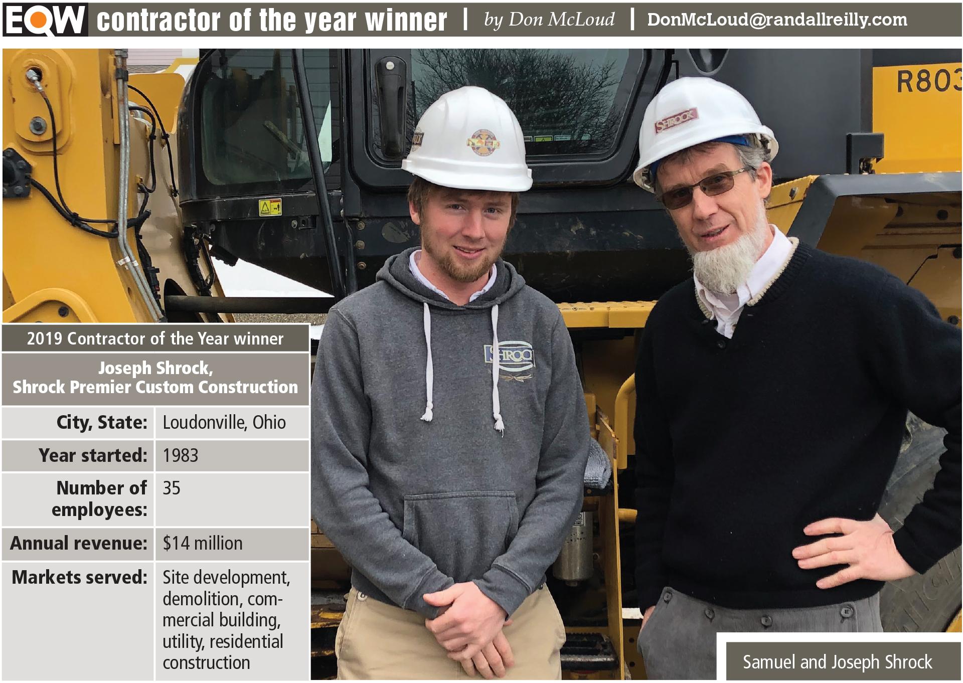 2019 contractor of the year winner joseph shrock