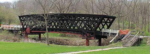 burned Madison County, Iowa's Cedar Covered Bridge