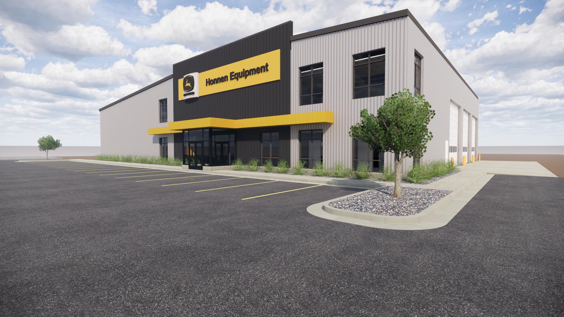 Honnen Equipment dealership rendering